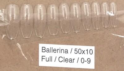 [generic] Ballerina Full Nail Tips Set (clear)
