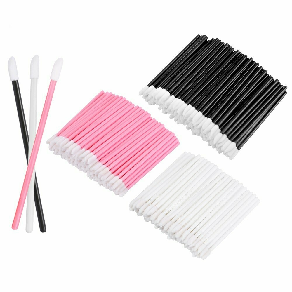 [generic] Disposable Lip Applicator (Pink/Black/White) (50pcs)