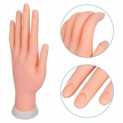 [generic] Premier Soft Hand with Bendable Fingers for Nail Art Practice