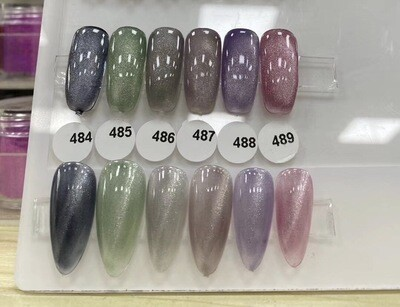 [Present] Crystal Cat Eye Gel Polish Collection (#484~489) (Made in Japan)