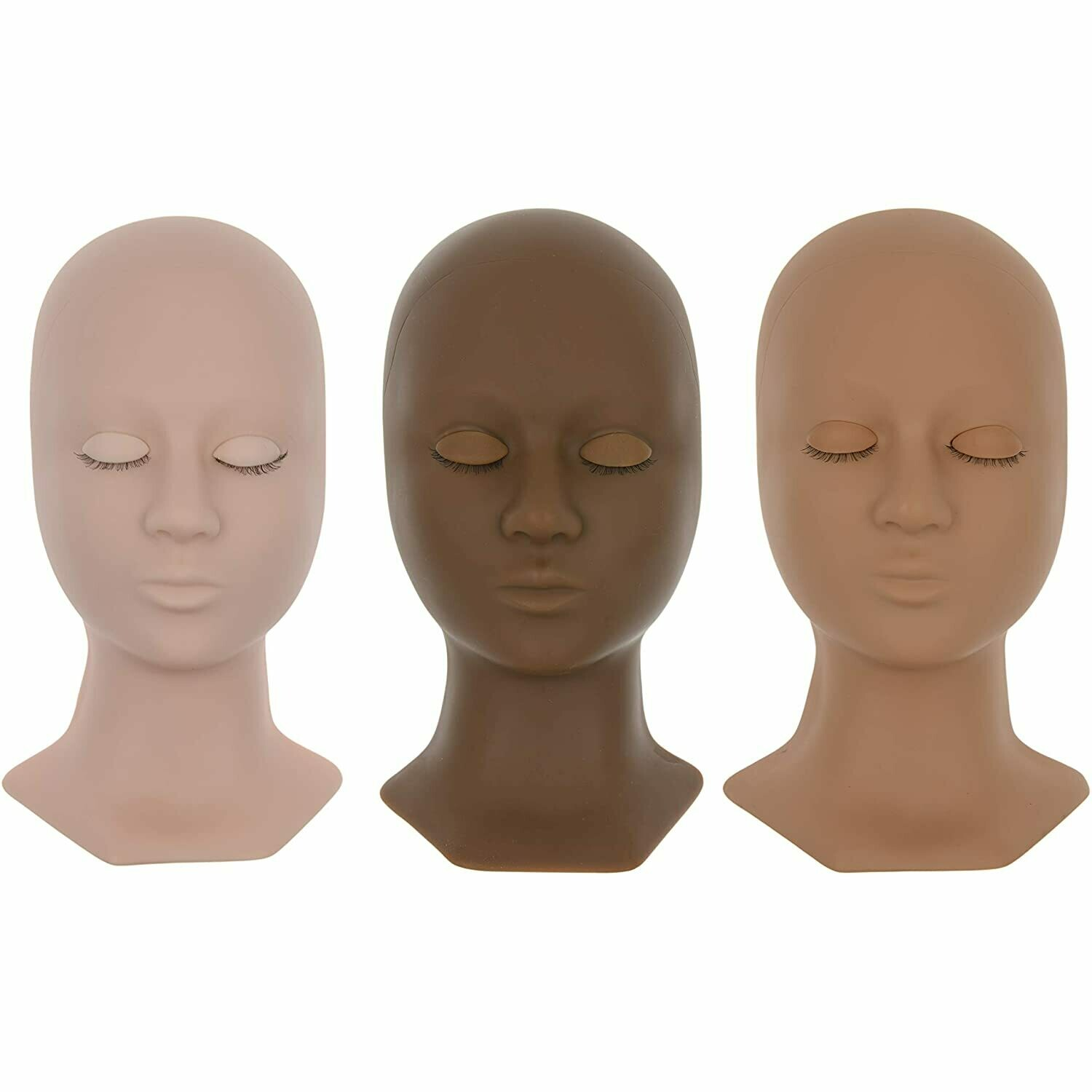 [BNP] Premium Mannequin Head for Eyelash Extensions with 3 Pairs of Removable Eyelids