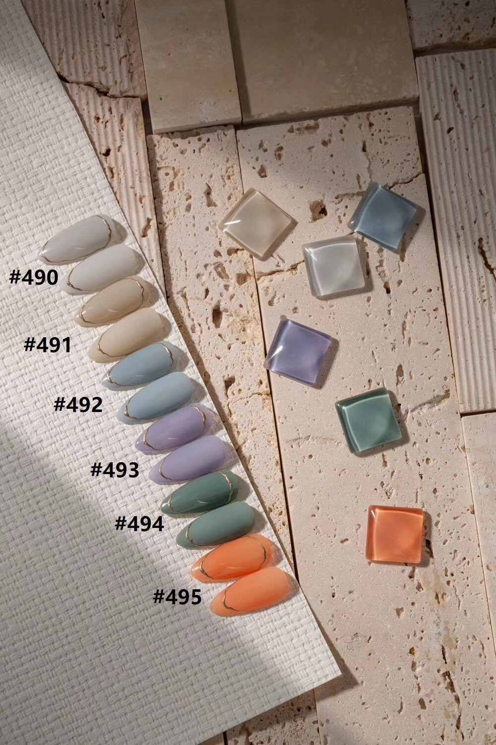 [Present] Gel Polish FOG Collection (6 Colors,#490-#495) (Made in Japan)