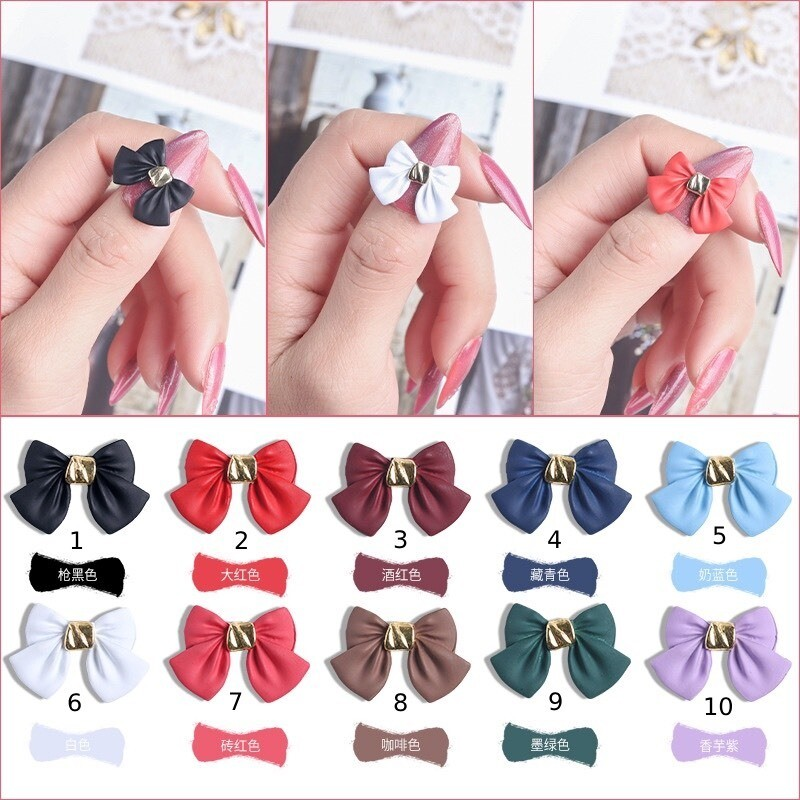 [BNP] bow-knot nail decors (2pcs)10 options,18*12mm