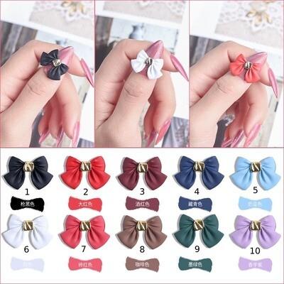 [BNP] bow-knot nail decors (2pcs)10 options,18*12mm