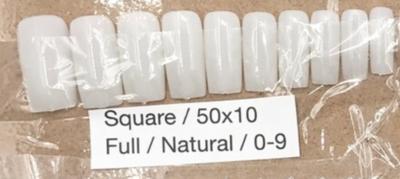 [generic] Square Full Nail Tips Set (natural/clear)