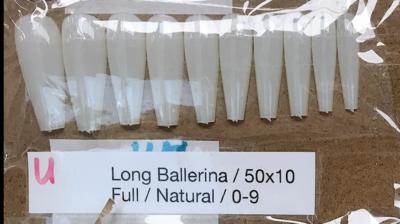 [generic] Long Ballerina Full Nail Tips Set (natural/clear)