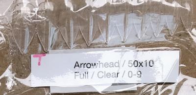 [generic] Arrowhead Full Nail Tips Set (natural/clear)
