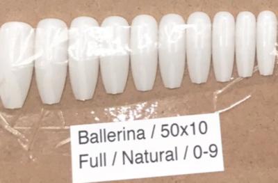 [generic] Ballerina Full Nail Tips Set (natural/clear)