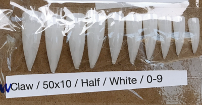 [generic] Eagle Claw Full Nail Tips Set (natural/clear)