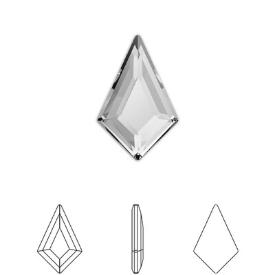 [Swarovski] Flat Back Crystal 2771 (MM6.4X4.2) (6 pieces/pack) (2 colours)