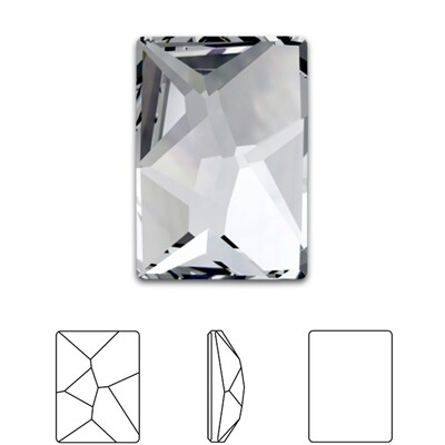 [Swarovski] Flat Back Crystal 2520 (MM8X6) (6 pieces/pack) (1 colour)