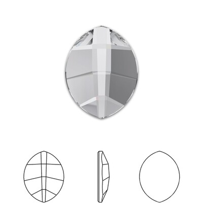 [Swarovski] Flat Back Crystal 2204 (MM6X4.8) (6 pieces/pack) (1 colour)