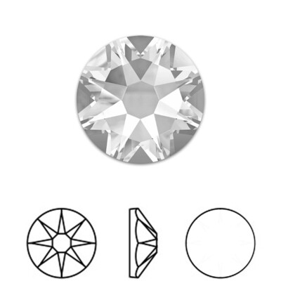 [Swarovski] Flat Back Crystal 2088 (SS34) (6 pieces/pack) (2 colours)