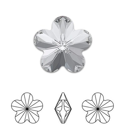 [Swarovski] Point Back Crystal 4744 (MM6) (6 pieces/pack) (1 colour)