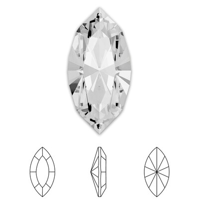 [Swarovski] Point Back Crystal 4228 (MM10X5) (6 pieces/pack) (1 colour)