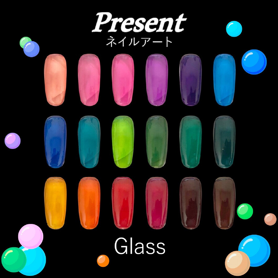 [Present] Gel Polish Glass Collection (18 colours)