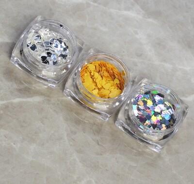 [generic] Heart Shaped Glitter (3 colours)