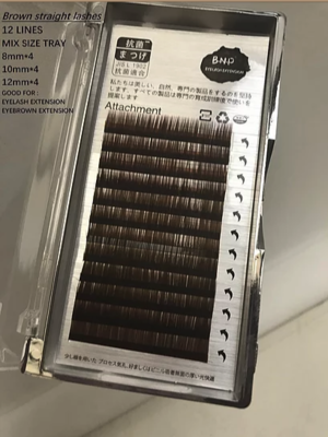 [BNP] Straight Lash (Brown, Black)