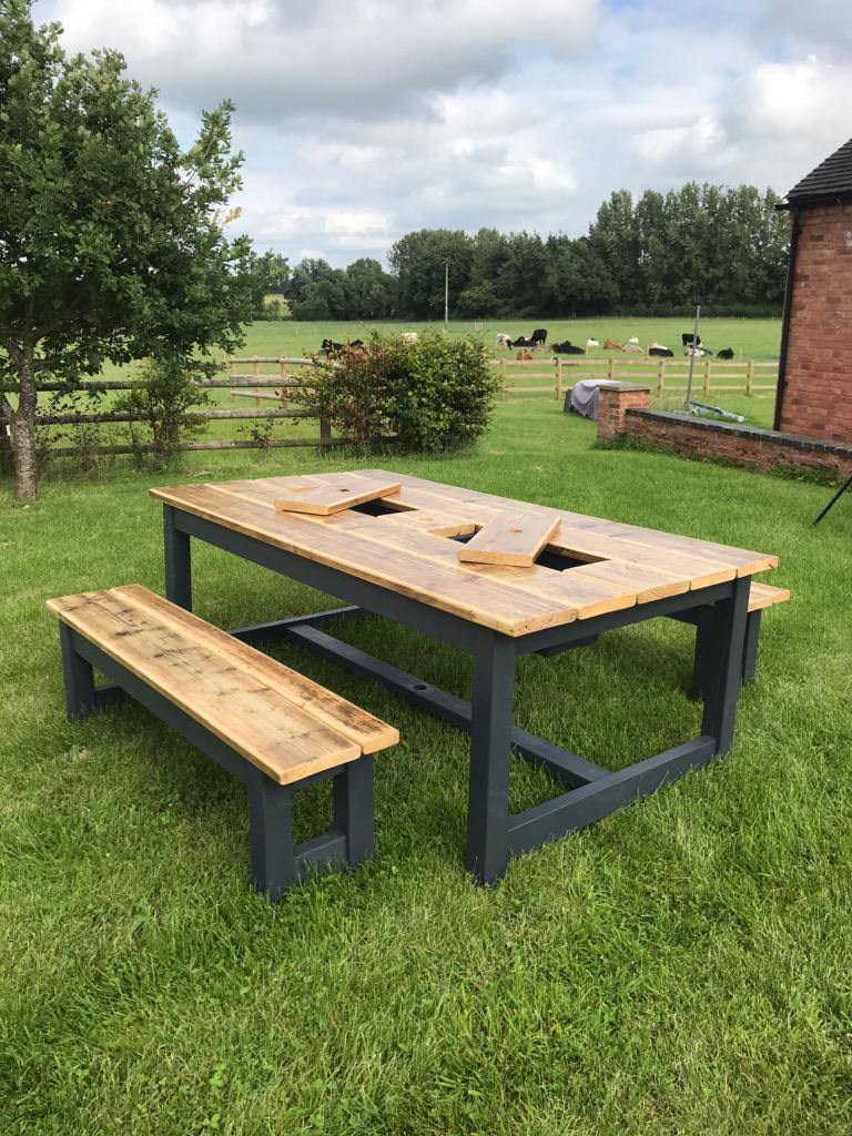 Prosecco Patio Table & 2 Benches