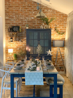 Rustic Dining Table & 1 Bench