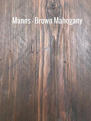 MANNS Brown Mahogany - Sample