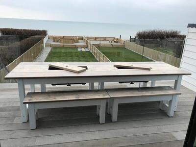 Prosecco Banqueting Patio Table & 4 Half Benches