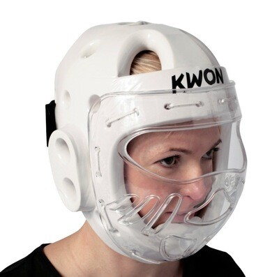 White headguard with face shield - Size Medium (BF)