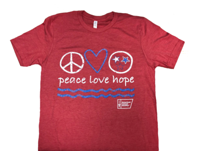 Peace, Love, Hope Shirt (Red)