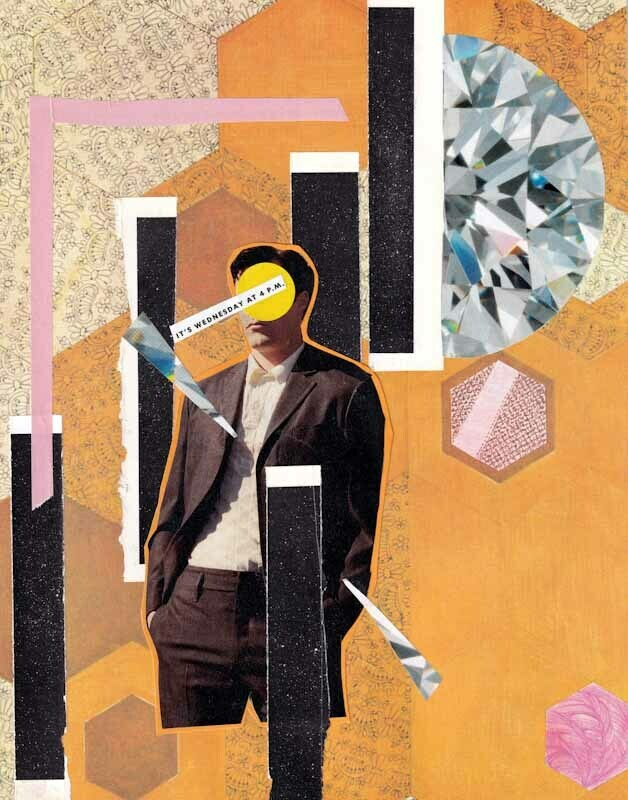 Maybe It's Wednesday #2 Collage Print