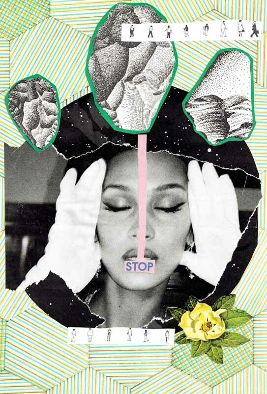 Stop & Go #1 Collage Print
