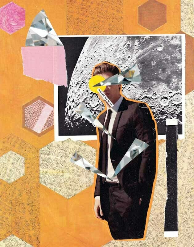Maybe It's Wednesday #1 Collage Print