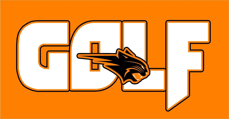 GOLF BIG with CAT - Orange T-Shirt