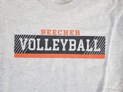 Beecher Volleyball Rectangle Tee, Crew or Hoodie
