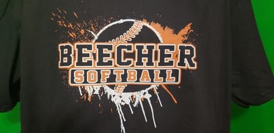 Beecher Softball Splatter Tee