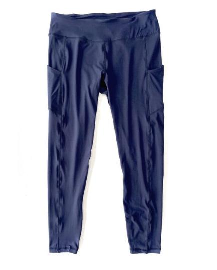 Navy Blue Pocket Leggings