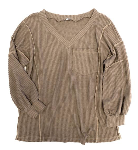 Not Your Average Top in Mocha