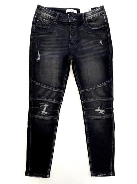 Drive Me Wild KanCan Black Moto Jeans
