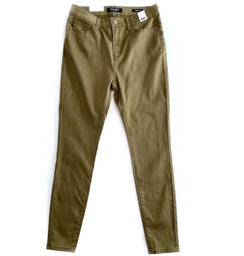 Yours Truly Olive Judy Blue Skinny Jeans
