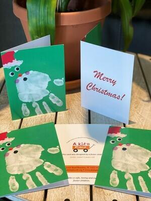 5 Santa Merry Christmas Cards