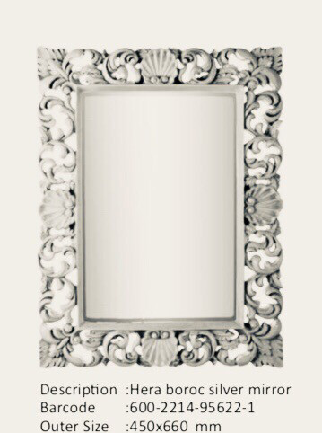 NWM95622-1 Hera Baroque Silver Mirror