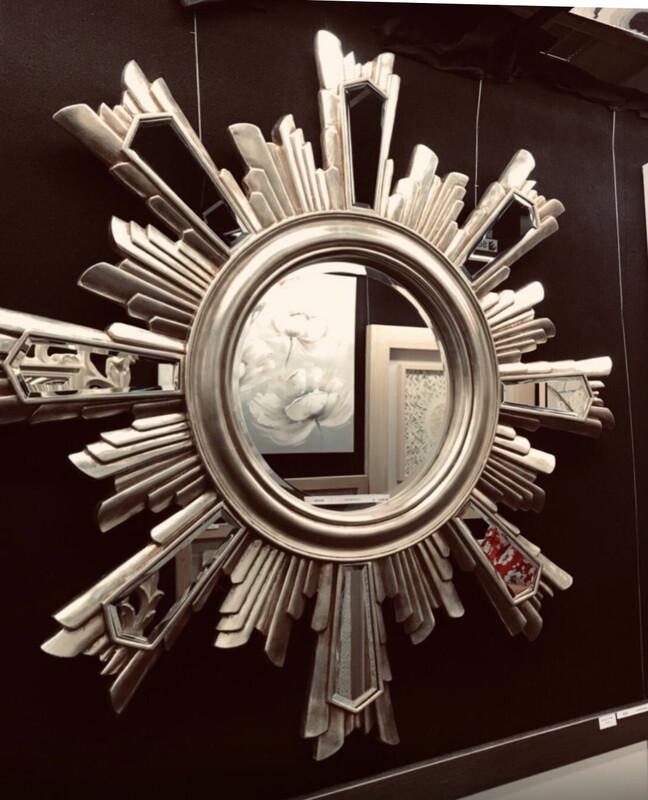 AF012 Sun Burst mirrored mirror
