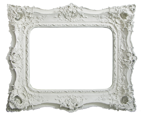 AF008 Ornate Gold/Silver/White mirror