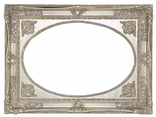 AF004AS Silver/gold, classic frame with oval mirror.