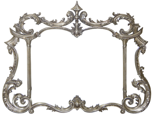 AF007AS Antique silver or gold classic mirror