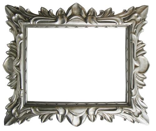 AF010 Ornate silver mirror
