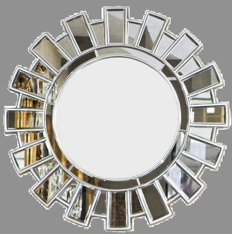 AF029 Round contemporary mirror on mirror