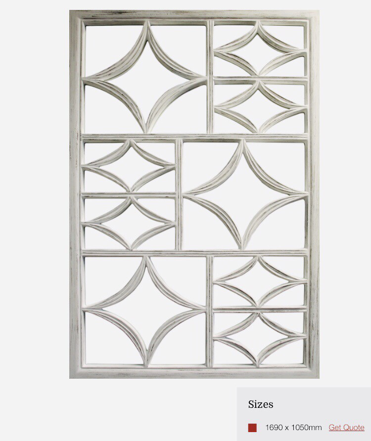 ZS073 Patterned white framing on mirror