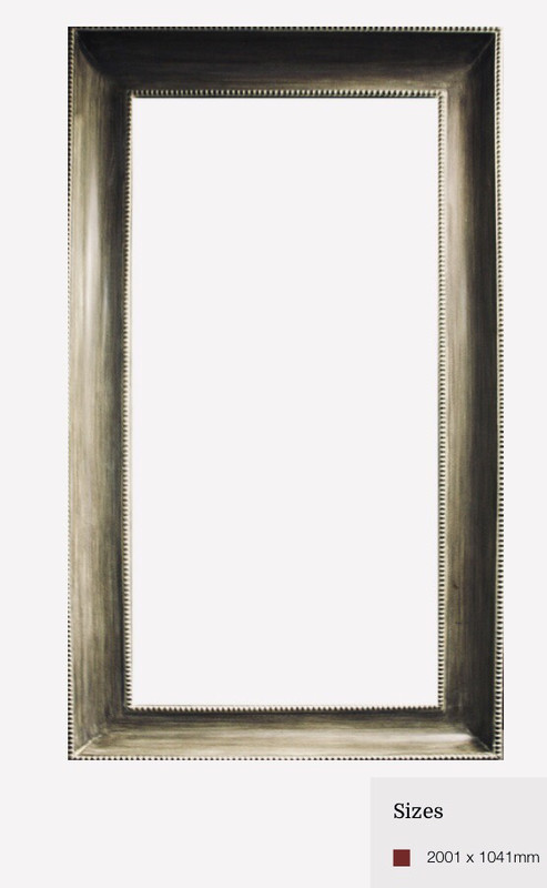 ZS074 Bronzed rectangular contemporary mirror