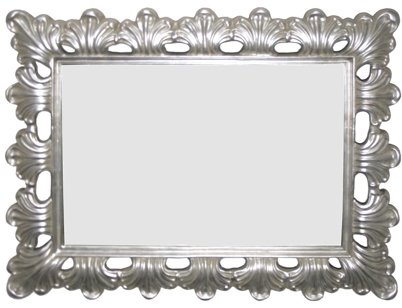 ZS011 Antique Silver, rectangular mirror.