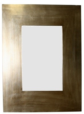 CFO73 Contemporary square framed gold/silver mirror